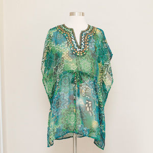 Raviya Embellished Sheer Cover Up S